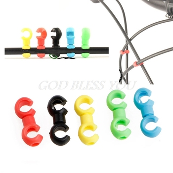 10 sztuk MTB obrotowy przewód hamulcowy C S klamra przerzutka kabel do przerzutek linii pierścień zapięcie Drop Shipping tanie i dobre opinie QILEJVS CN (pochodzenie) GUGUJI222