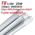Led Light 1500mm 25w Led Tube T8 1.5m Tube Light Pure White 85-265v The Lamp Milky/transparent Cover