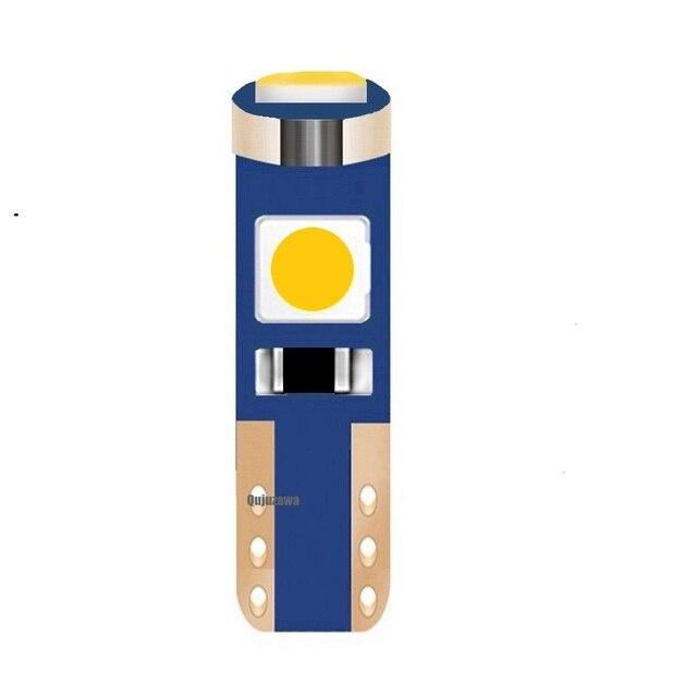 T5 W3W W1.2W супер яркий 3 SMD 3030 светодио дный лампа Canbus автоматический Dashboard Gauge инструмент света автомобиля белый зеленый цвет желтый, синий; размеры 34–43 красный