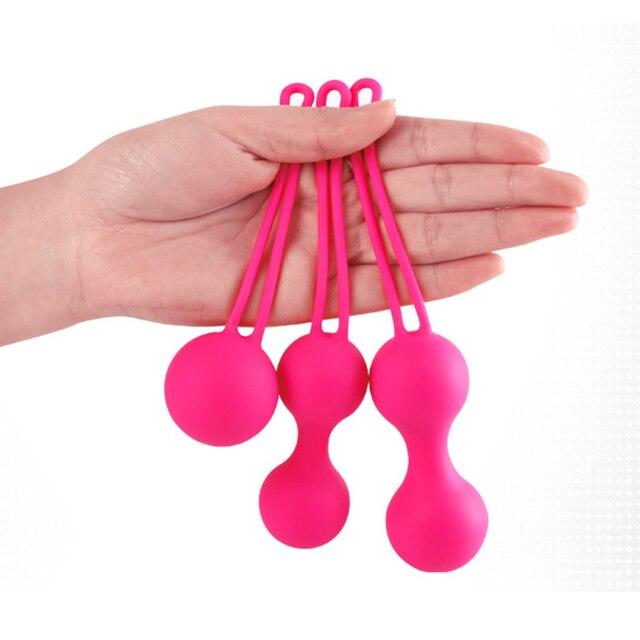 3pcs/lot  100% SIlicone Vagina Vibrators Kegel Ball Vaginal Ball Adult Sex Toys Sex Products