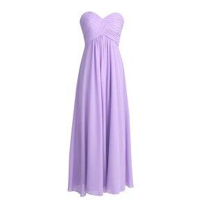 Image 4 - Tiaobug 2020 vestido de dama de honra, vestido formal de dama de honra rosa longo chiffon elegante vestido de festa de madrinha