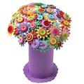 DIY Кнопку Игрушка Букет Ручной 3D PuzzleToys Кнопка Букет Вставляется Игрушки Выращивания Водных Шаров Милый Искусственный Цветок