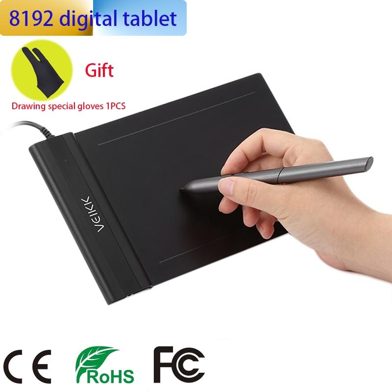 VEIKK 6*4 pouces tablette graphique professionnelle 8192 niveaux tablette de dessin numérique pas besoin de charge stylo tablette pas xp stylo g640
