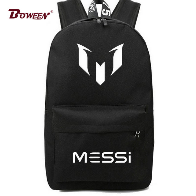 Teens Boy School Bag for Teenager Messi Backpack Black Cool Back Pack Men  Travel back bag 9c589317c8a14