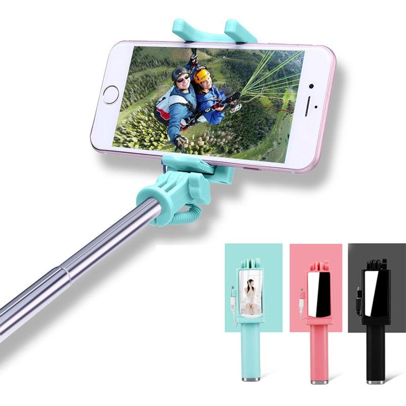 Universal Selfie Stick cu oglinda spate pentru Android Monopod cu fir - Camera și fotografia