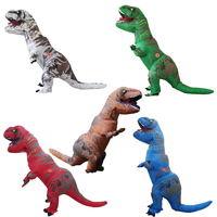 Adult Jumpsuit For Women Men T REX Inflatable Costume Halloween Cosplay Carnival Christmas Costumes Fan Operated