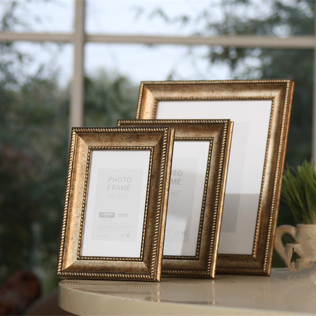 European frame do the old retro pale gold 7 inch Photo Frame Photo Frame Photo Free International