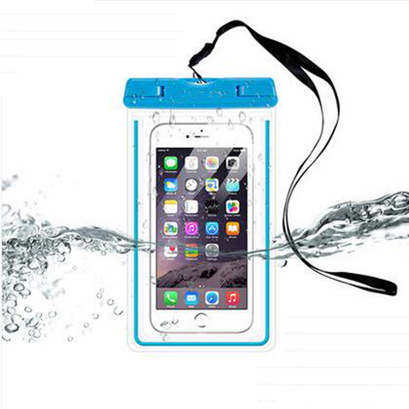 buy online 100cc b8c73 US $4.8 |Luminous latest touch screen mobile phone waterproof phone bags  for iphone7 Universal waterproof bag diving swimming sealed bag-in Phone ...