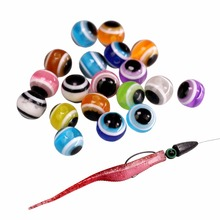 200pcs/lot Fish Eye Fishing Beads 6mm 8mm 10mm Mixed Color Carolina Rigs Taxes DIY Kit Bass Tackle