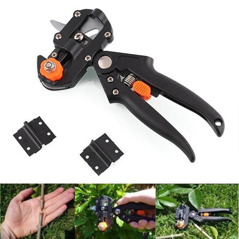 Garden Tools Pruner Chopper Vaccination Cutting Tree Garden Grafting Tool With 2 Blades Plant Shears Scissors