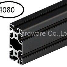 Черный алюминиевый профиль алюминиевый экструзионный профиль 4080 40*80 обычно используется в сборке рамы устройства, стола и выставочного стенда