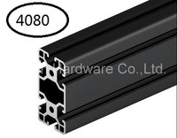 Black Aluminum Profile Aluminum Extrusion Profile 4080 40 80 Commonly Used In Assembling Device Frame Table