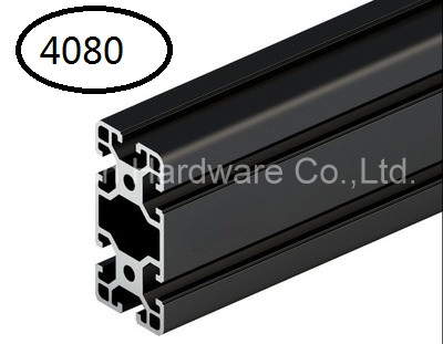 Black Aluminum Profile Aluminum Extrusion Profile 4080 40*80 commonly used in assembling device frame, table and display stand