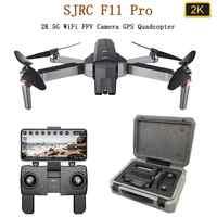 SJRC F11 פרו GPS Drone עם 2KHD Wifi FPV מצלמה/F11 1080P Brushless Quadcopter 25 דקות זמן טיסה מתקפל Dron Vs SG906