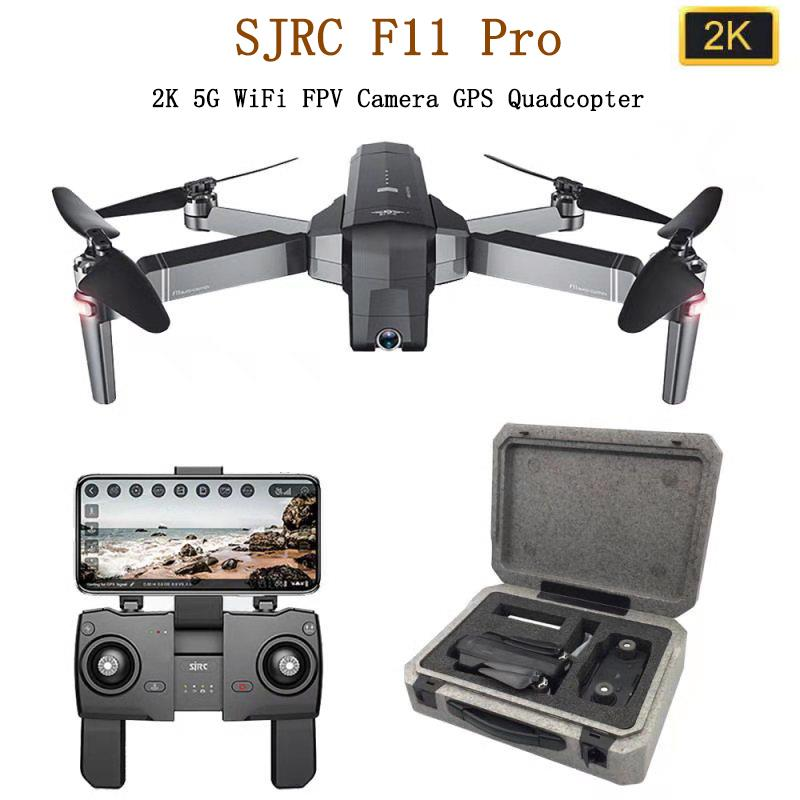 SJRC F11 PRO GPS Drone With 2KHD Wifi FPV Camera/ F11 1080P Brushless Quadcopter 25 minutes Flight Time Foldable Dron Vs SG906-in RC Helicopters from Toys & Hobbies