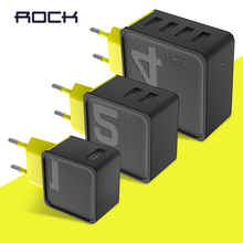 ROCK Mobile Phone Charger Universal Travel Phone USB Charger 1 2 4 Port USB Wall Charger for iPhone Samsung xiaomi Adapter EU US