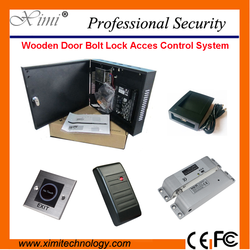 ZK TCP/IP Linux System Biometric RFID Card Access Control Reader Wooden Door Waterproof Card Access Control System