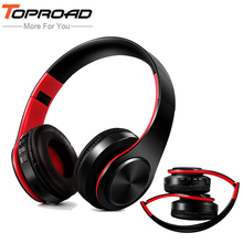 TOPROAD New Arrival Wireless Bluetooth Headphone Stereo Headset Music Head Over Headphones Earphone with Mic for iphone samsung cheap Dynamic CN(Origin) 84dBdB Nonem For Mobile Phone Common Headphone 3 5mm Wireless Bluetooth Headset 32ΩΩ Wireless Sport Bluetooth Earphones