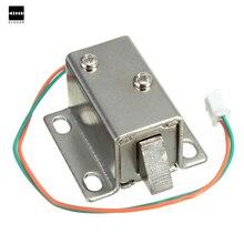 Маленький 27x29x18 мм 12VDC выдвижной ящик шкафа Электрический замок в сборе электромагнитный замок прочный в использовании электрический блок соленоидов