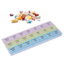 Mini Pill Box Organizer Tablet Holder 21 days Slot Weekly Medicine Container Organizer Case