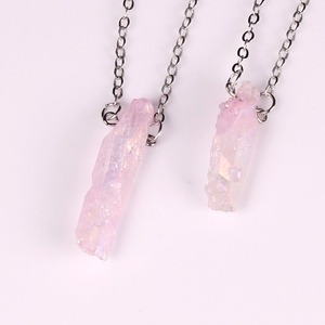 12 шт./лот необработанные Красочные Титановые радужные натуральные кристаллы драгоценный камень массивные Подвески ожерелье для изготовле...
