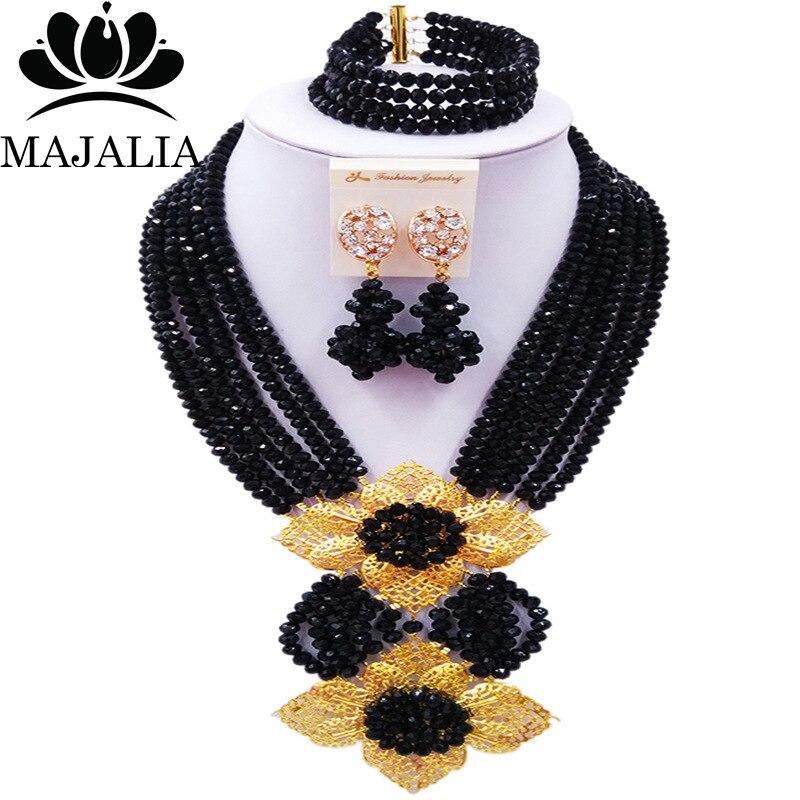 Majalia Classic Nigeria Wedding African Beads Jewelry Set