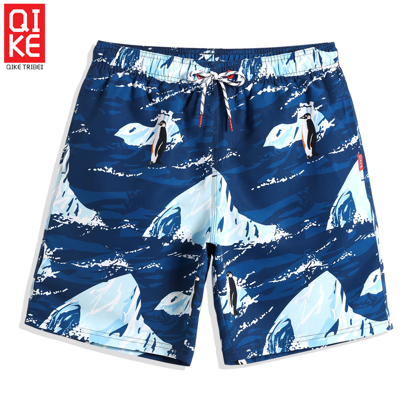 Men's 2019 New Swimming trunks Cartoon penguin plavky quick dry surfing   Board     shorts   liner swimwear briefs printed mesh