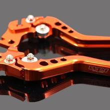 Мотоцикл Производительность трюк тормозной рычаг сцепления для DUKE125/200DUKE390 в сложенном виде рога оранжевый
