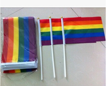 A Ductile Stick Colored Lesbian Hand Car Flags Polyester