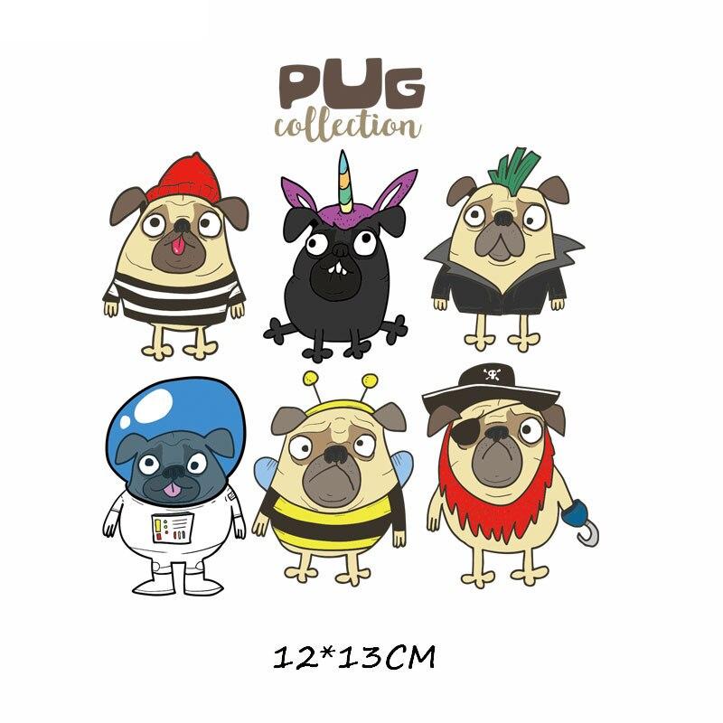 Железные милые нашивки в виде животных набор для детей Одежда DIY Футболка аппликация теплопередача виниловая нашивка единорога наклейки термопресс - Цвет: 545