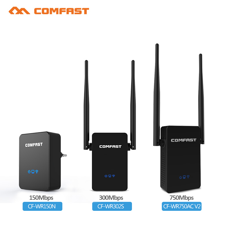 Wifi repeater 5ghz Comfast 150M-750mbps 802.11ac wireless repeater router wifi siginal extender antenna 2*5dbi wifi router
