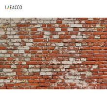 Laeacco Red Old Brick Wall Backdrops For Photography Party Wallpaper Baby Portrait Photographic Backgrounds Photo Studio