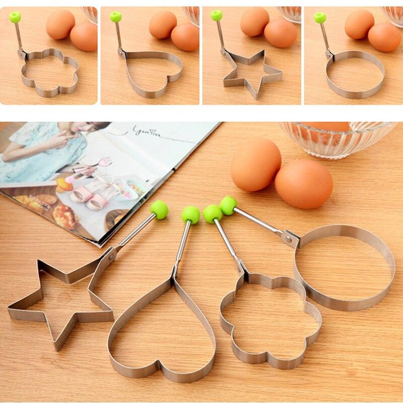 10*4 шт/набор нержавеющая сталь, милая форма жареное яйцо формы для блинов кольца приготовления пресс форма для кухни