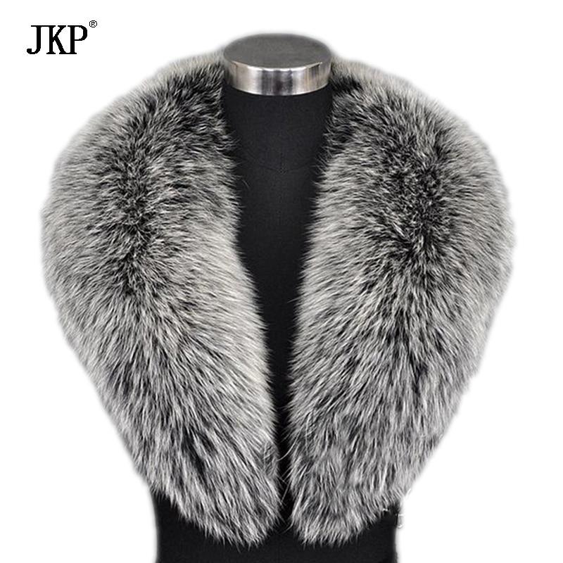 Vinter kvinder ægte rævpels krave ræv pels cap pels krave 80-100 cm krave blødt pels tørklæde hals varmere