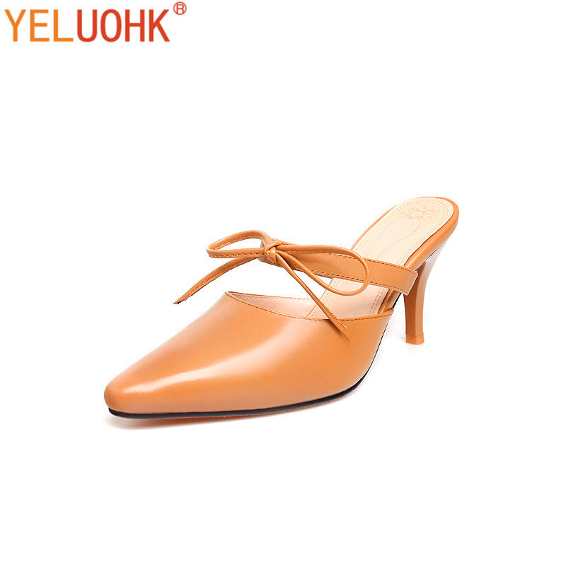 Women Genuine Leather Shoes Heels Women Summer Shoes 2017 Women High Heel Shoes Top Quality