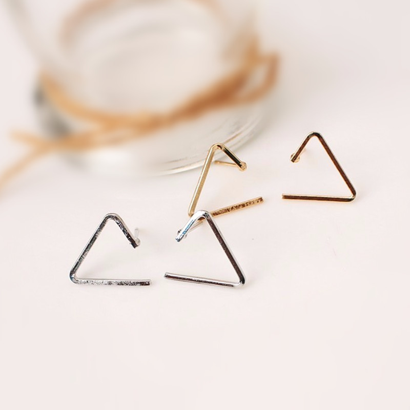 2018New fashionable jewelery copper easy geometric triangle studs for girls beautiful gift for ladies free shipping