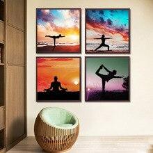 Moderne Yoga Kunst Leinwand Malerei Poster Wandbilder Fr Halle Wohnzimmer Wohnkultur Wandkunst