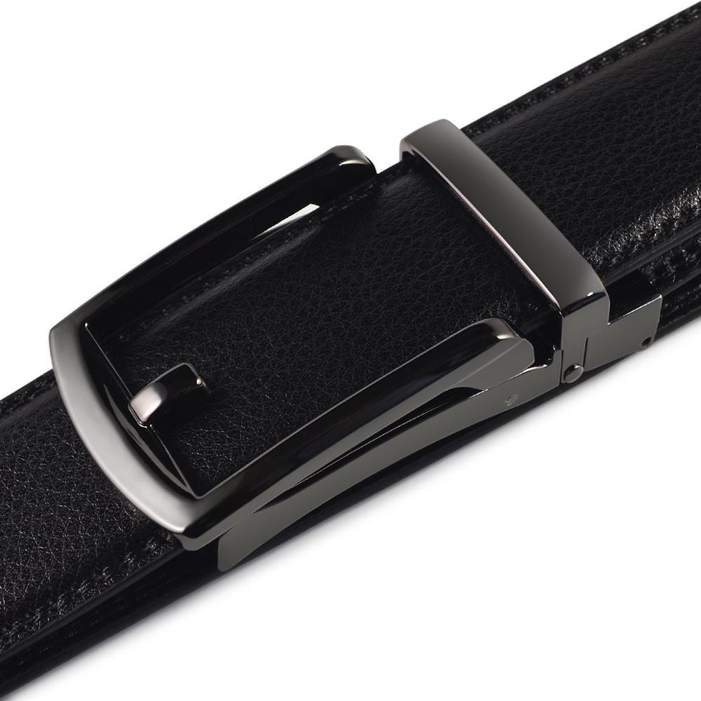 [JACNAIP] Men's Genuine Leather Ratchet Dress Belt  new arrival INNOVATIVE buckle belt