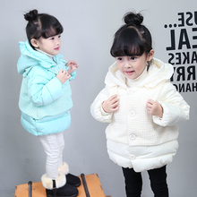 Зима детская одежда ватные куртки девочка хлопка-ватник ребенок хлопка-ватник утолщение пряжи за штуку
