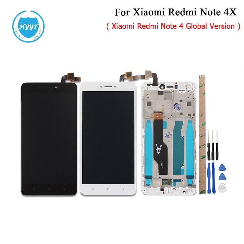 imágenes para 5.5 pulgadas Para Xiaomi Redmi Nota 4X LCD Pantalla y Pantalla Táctil Con la Asamblea Del Marco de Reparación de Piezas de 1920x1080 FHD + Herramientas + Adhesivo