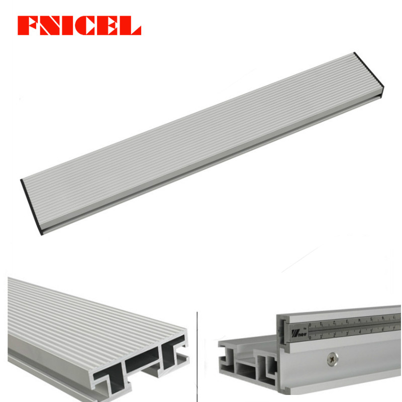 450 600 800mm Aluminium Profile Fence 70mm Height with T-tracks and Sliding Brackets Miter Gauge Fence Connector for Woodworking