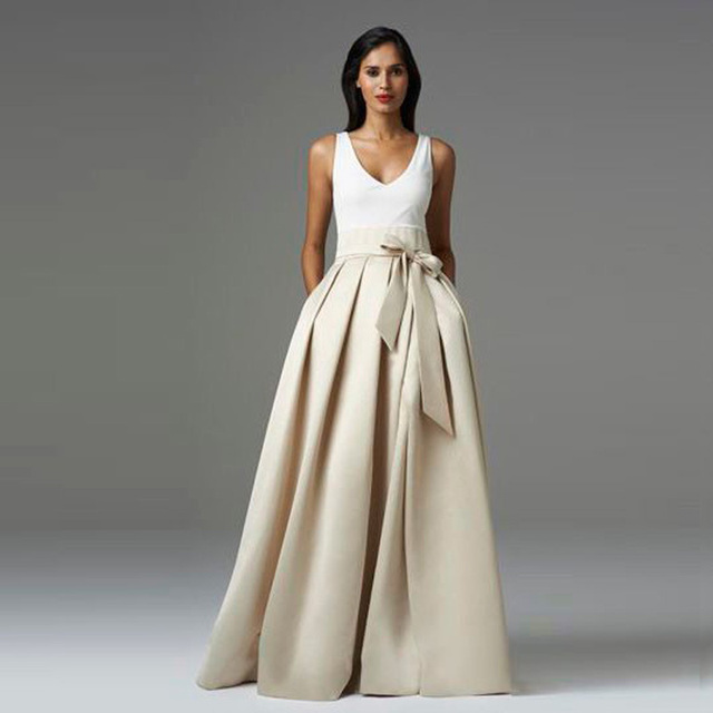 A Line Pleated Skirt Dress
