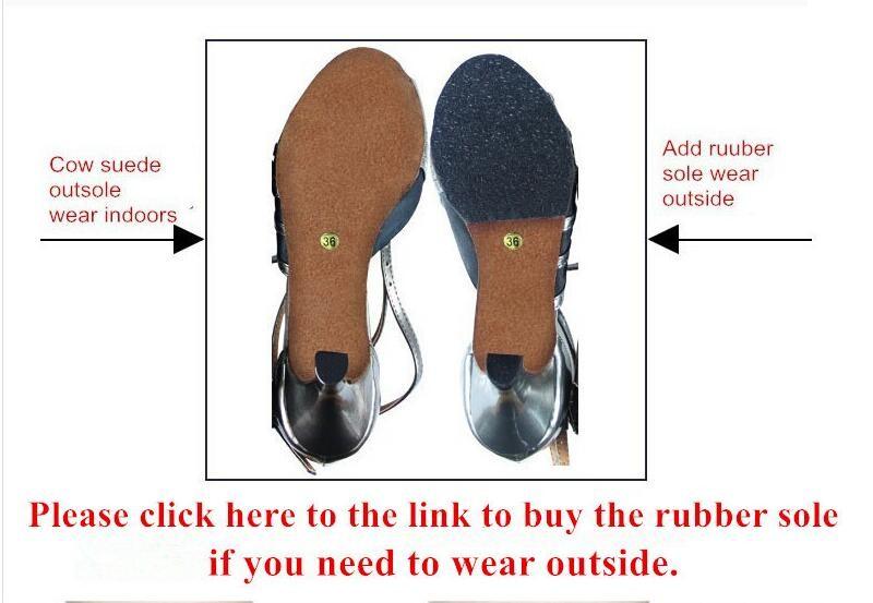 WUXIJIAO The Rubber Outsole For Latin dance shoes Ballroom dancing shoes Tango Jazz Dance Shoes Rubber Outsole