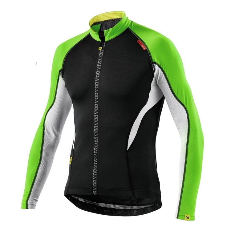 Mavic 2018 Summer Pro Team Long Sleeve Aero Jersey race cycling jersey  bicycle slim cycling clothes Italy mesh fabric sleeve 3b1c2736d