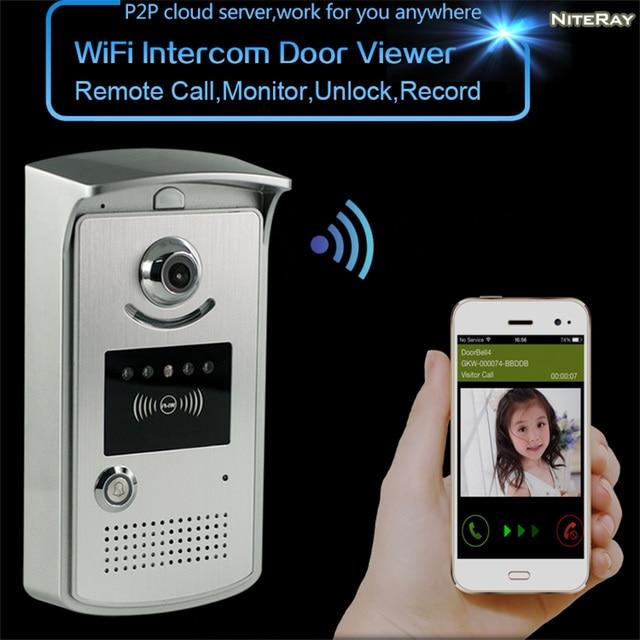 Digital Peephole Wifi Wireless Lock Release Door Access Electronic Lock  Opening System Home Apartment Doorbell Wifi