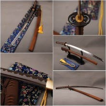Delicate Sharp Knife Home Metal Decoration Japanese Vintage Samurai Sword  1060 Carbon Steel Blade Katana