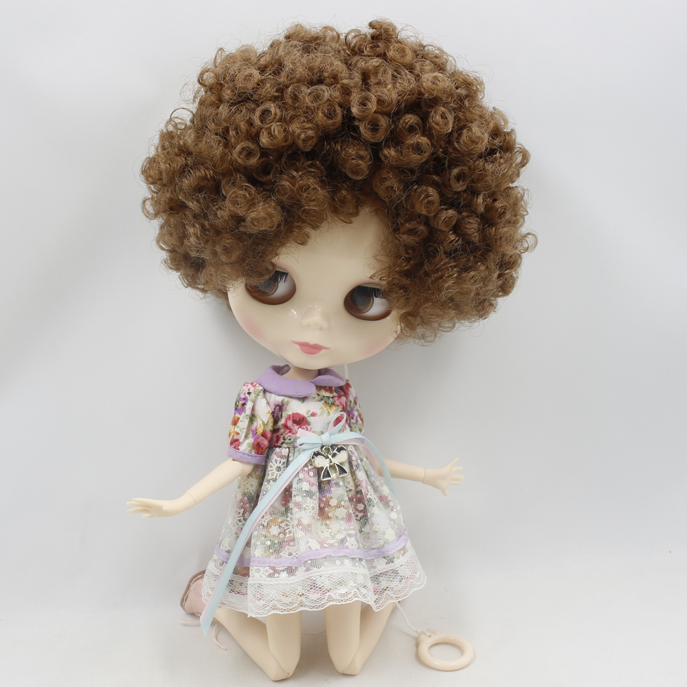 ICY Nude Factory Blyth doll No BL9158 Brown Afro hair JOINT body White skin Neo 1