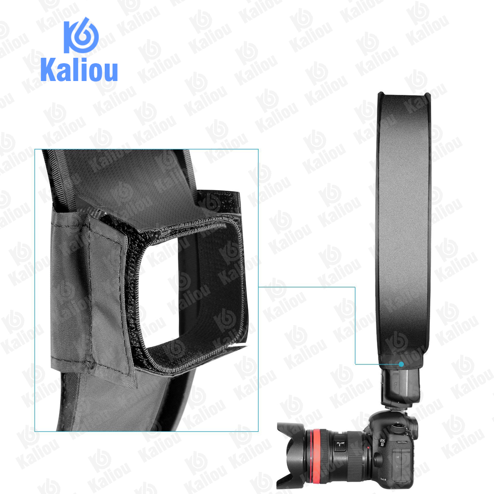 Image 4 - Kaliou 40cm Round Universal Portable Speedlight Softbox Flash Diffuser On top Soft Box for Camera-in Softbox from Consumer Electronics