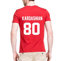 Kim Kardashian T Shirt KARDASHIAN 80 Print On Back Side Tshirt Kim Kardashian 80 Year Of