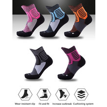 1Pair Mens Athletic Cushion Ankle Sock Performance Cotton Compression Sport Basketball Arch Support Socks